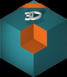 Logo LDV 3D PNG 2,5 cm